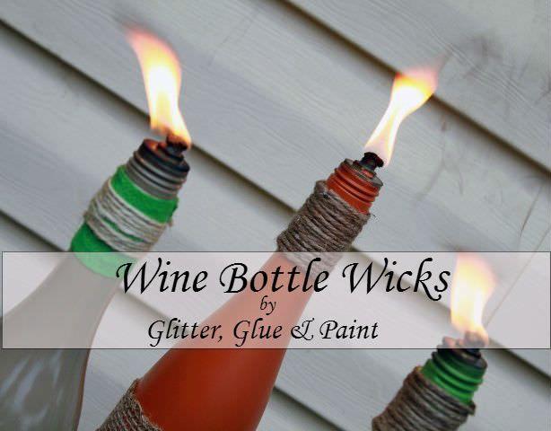 Wicks for wine bottles