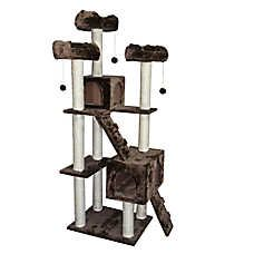I like the colors of this kitty tower. Plus the sale price of $144 from $180 is nice too, especially with the get 5% off if you buy online and pick it up at the store. I bet I could even find a coupon too! 😸😬😸#rccardenas