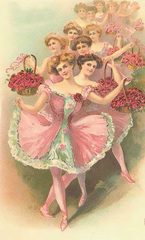 Vintage ballet dancers