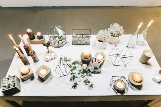 Urban Geometric Chic Heiraten mit Spartipps von Jane Weber | Hochzeitsblog - The Little Wedding Corner