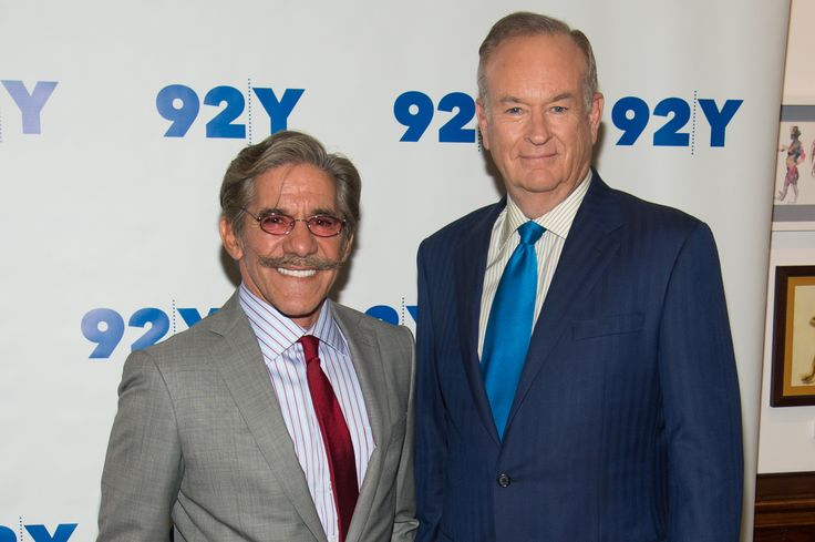 NEW YORK, NY - JUNE 18:  (L-R) TV Personalites Geraldo Rivera and Bill O'Reilly attend An Evening with Bill O'Reilly and Geraldo Rivera at 92nd Street Y on June 18, 2014 in New York City.  (Photo by Mark Sagliocco/FilmMagic) via @AOL_Lifestyle Read more: https://www.aol.com/article/entertainment/2017/04/10/fox-news-names-amy-listerman-first-female-cfo/22034100/_next_slideshow_cta?a_dgi=aolshare_pinterest#fullscreen