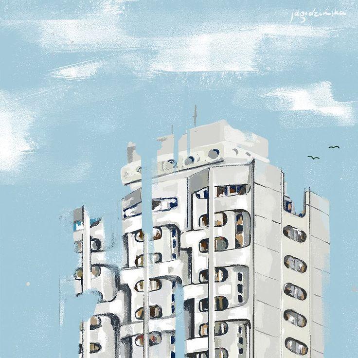 1/3 Architecture of Wroclaw. Sedesowiec. #sedesowiec #wroclaw #architecture #architectureinpoland #illustration #architectureillustration #art #dagmarajagodzinska #glitch #illustration #イラスタ #絵 #建物 #sky #girlswhoillustrate #womanwhodraw #illustrator #rzeczowki #blogger #love