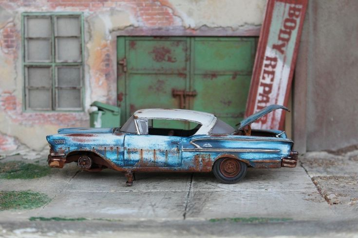 AMT 1958 Chevy Impala Barnfind Coupe 1/24 1/25 for Junkyard Diorama | eBay