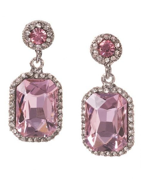 Pink diamond earrings for an elegant bride! | Cercei cu diamante roz, pentru o  mireasa eleganta!