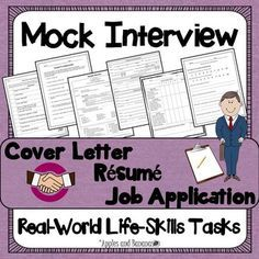 """Find this mock interview and other terrific secondary resources in this latest blog post, """"A Look Back: The Secondary School Year."""""""