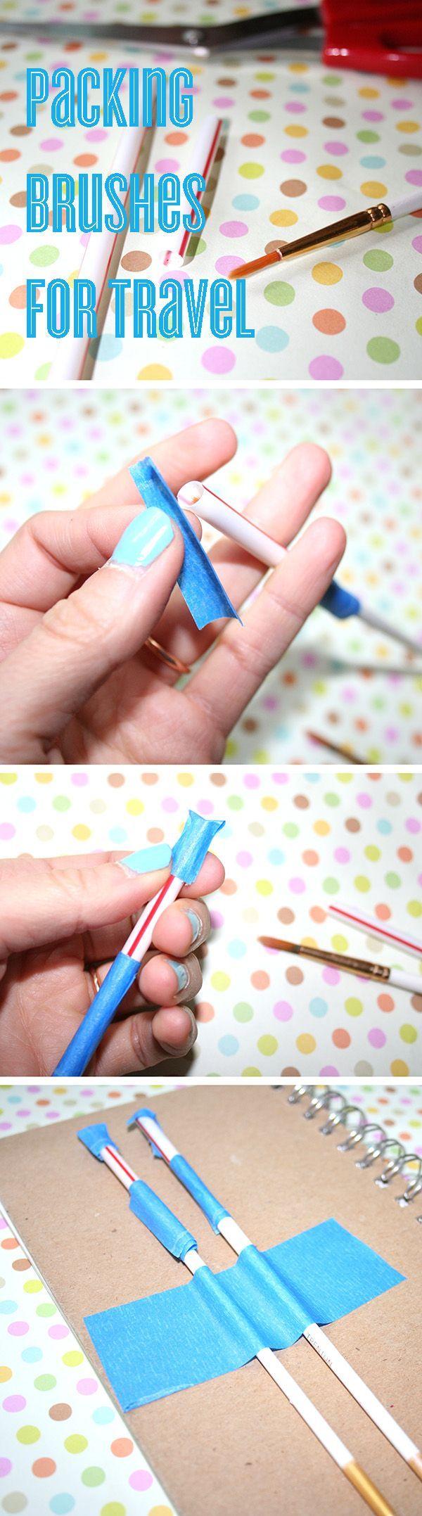 Pinsel für die Reise mit Trinkhalmen verpacken – clever!