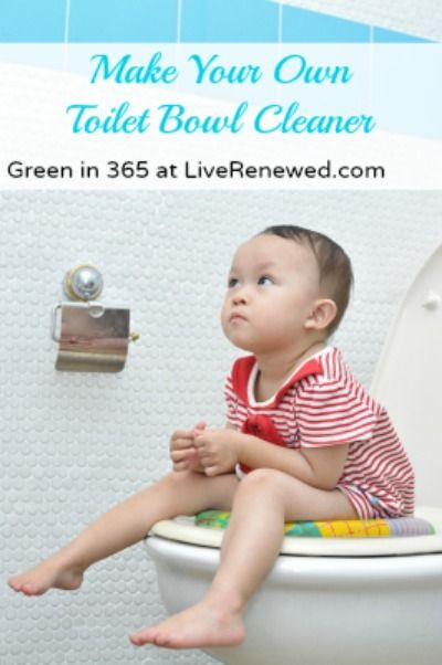 Conventional toilet cleaners are filled with toxins! Here's five ways to make your own toilet bowl cleaner {Green in 365: Bathroom}