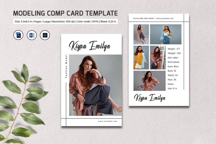 Comp Card Template | Fashion Model comp card, Modeling ...