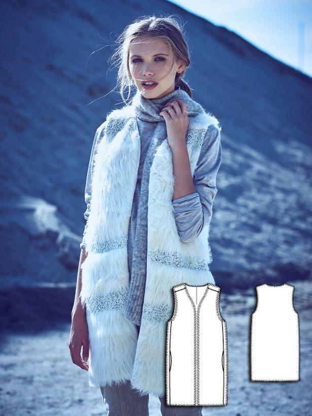 Long Fur Waistcoat 12/2015 #106 http://www.burdastyle.com/pattern_store/patterns/long-fur-waistcoat-122015?utm_source=burdastyle.com&utm_medium=referral&utm_campaign=bs-tta-bl-151116-OutCold106