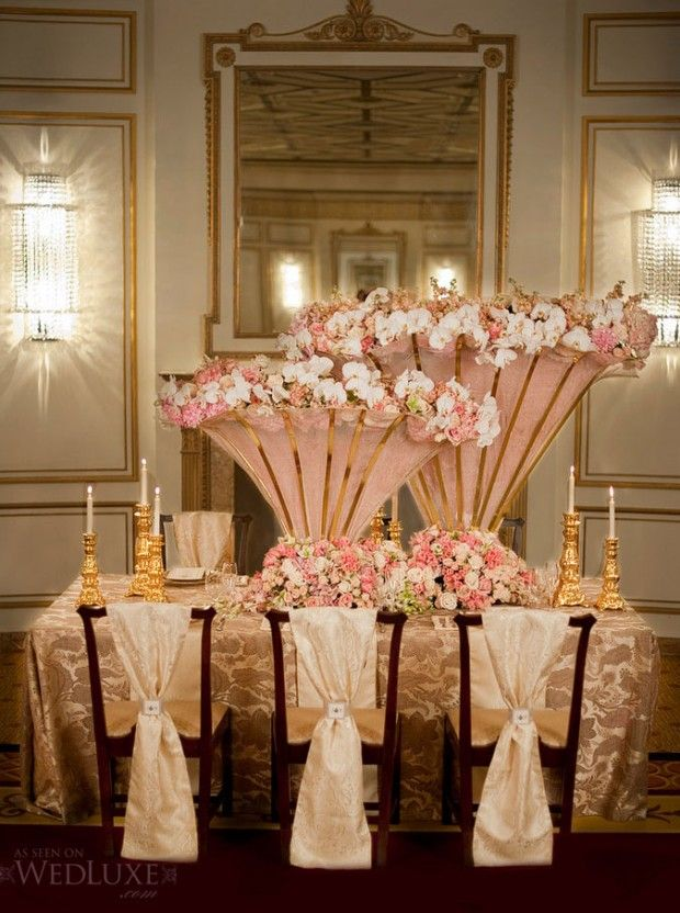 Pictures Of Rose Gold Pink Gold Bronze Tablescapes