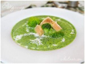 Сливочный суп из шпината с лососем