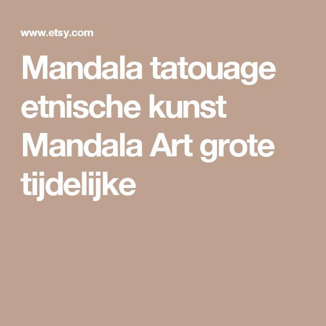 Mandala tatouage etnische kunst Mandala Art grote tijdelijke