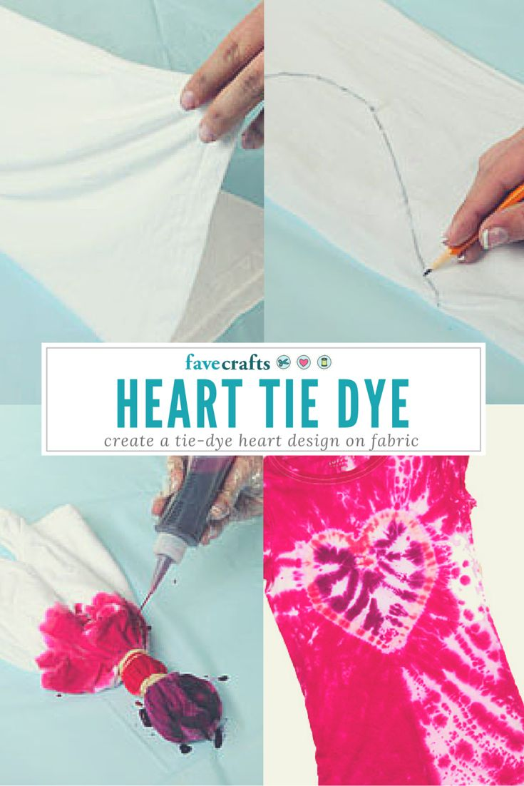 Learn how to create a tie dye heart, great for Valentine's Day or creating a fun look on a bag or tee shirt
