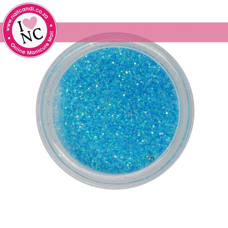 Nail art Glitter - Neon Blue