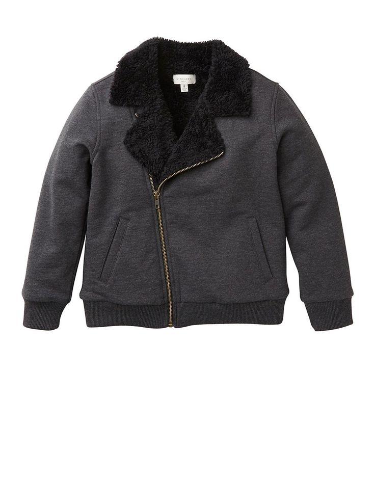 Sherpa Lined Biker Jacket