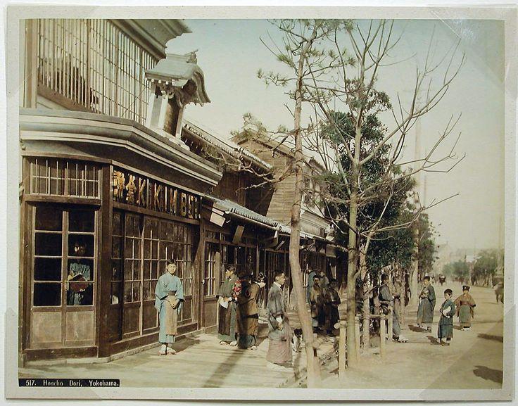 Honcho Dori, Yokohama by Kusakabe Kimbei