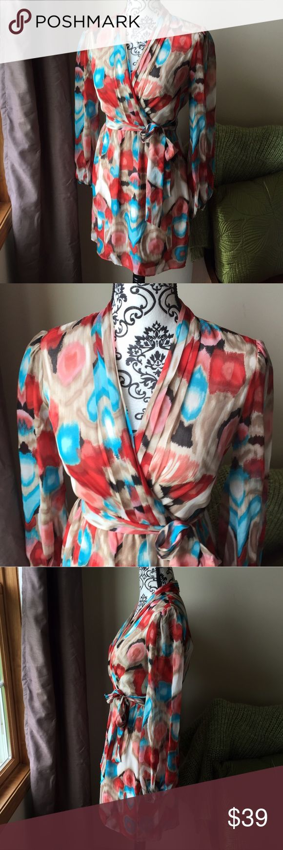 Laundry by Shelli Segal Dress Stunning 100% silk dress by Shelli Segal. Vibrant colors make this a must have dress in your spring wardrobe. Excellent condition!! Laundry by Shelli Segal Dresses