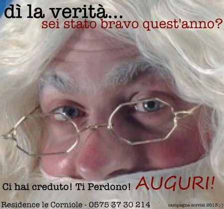 Una cartolina di Natale meno convenzionale per gli auguri 2013 dal Residence le Corniole di Arezzo