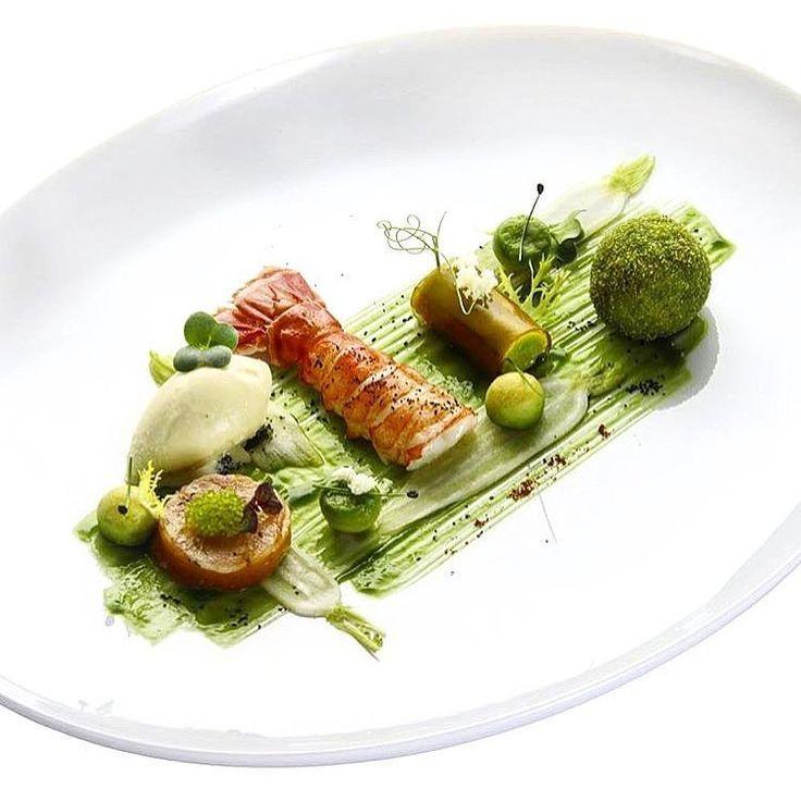 Norwegian lobster with watercress, radish & avocado. ✅ By - @n.henkel ✅ #ChefsOfInstagram