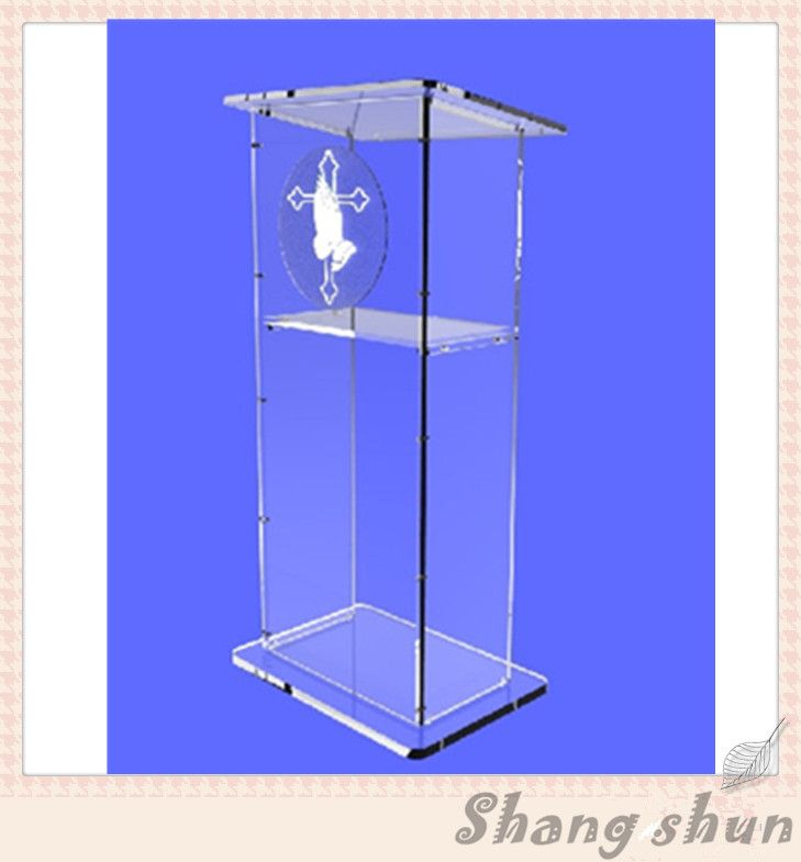 Plexiglass modern lectern stand church lectern modern design acrylic church lectern