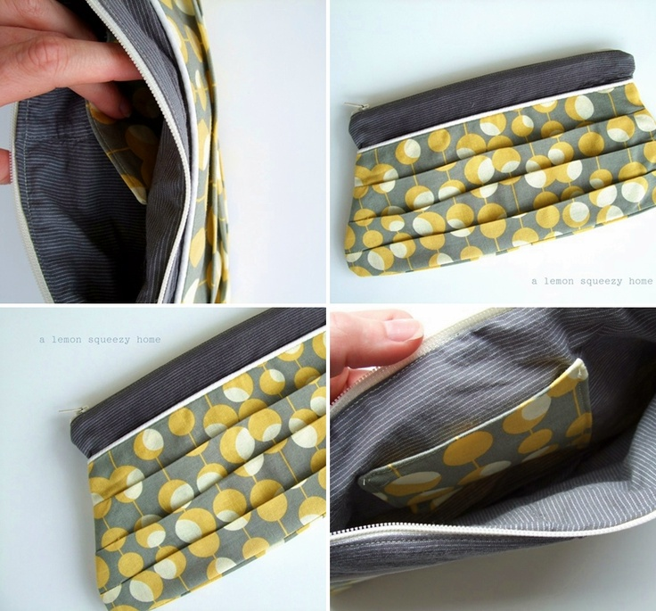 DIY pleated pouch