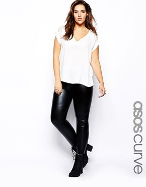 ASOS CURVE Leggings In Wet Look http://www.asos.com/pgeproduct.aspx?iid=4671821&CTAref=Saved+Items+Page