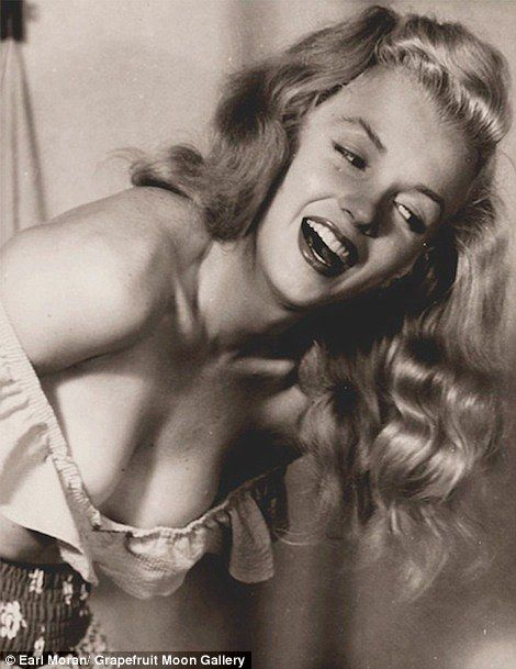 Not shy: These pictures, taken by Moran, echo his other works of pinup women of the 1940s and 50s
