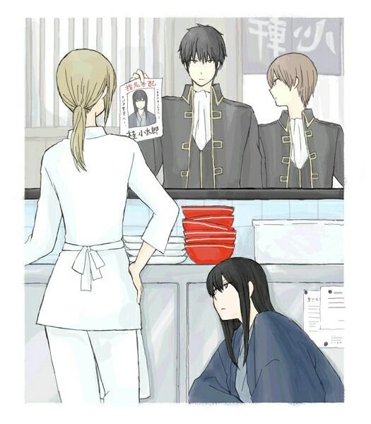 Gintama ~~~ Katsura doesn't seem worried, does he?