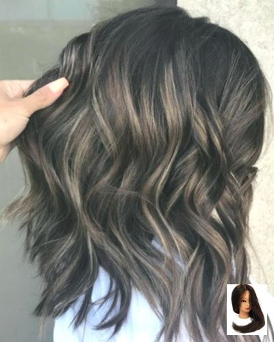 #ash #ash Black Hair #Black #Brown #Hair #highlights Black Hair With Ash Brown H …