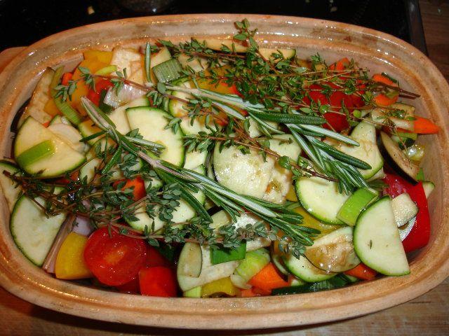Gemüse römertopf
