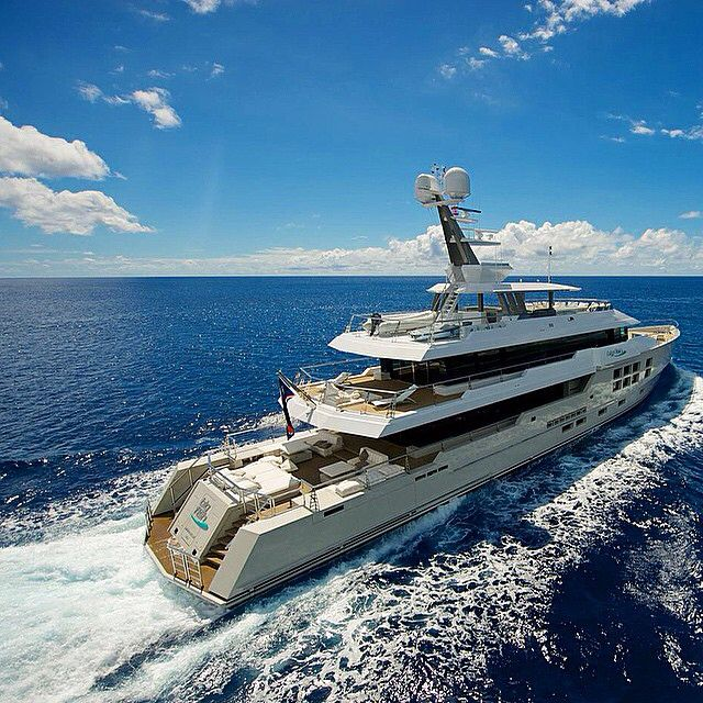 """M/Y """"BIG FISH"""" - 45m Expedition yacht by McMullen & Wing. Guests: 10 Charter from $245,000 (via @ycoyacht )"""