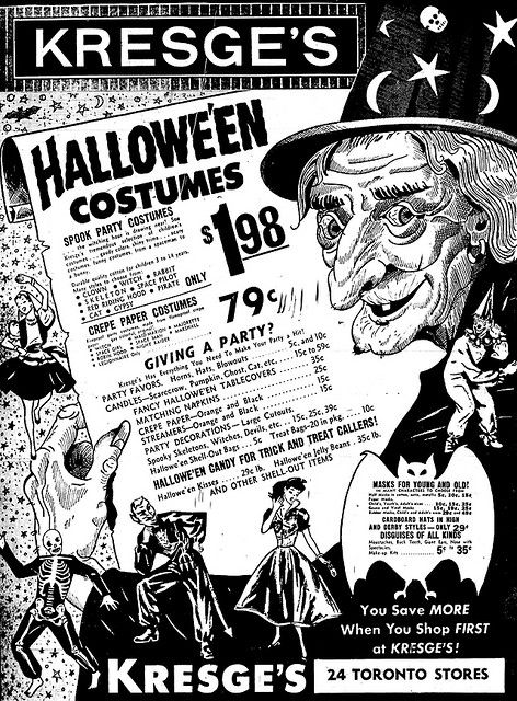 Vintage Halloween ad from Kresge's (1959)