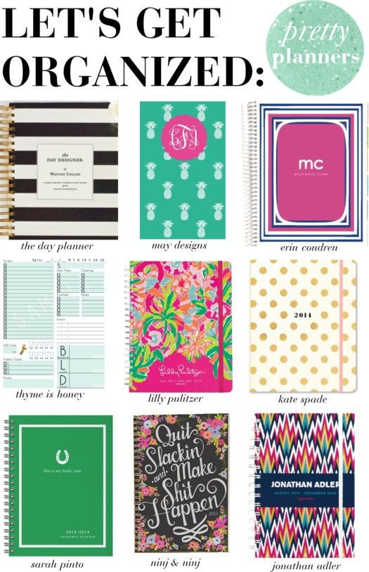Let's get organized! Pretty planners perfect for BTS or getting your ish together in general! http://lapetitefashionista.blogspot.com/2013/08/lets-get-organized-pretty-planners.html