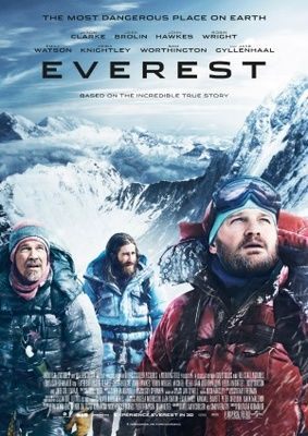 Everest is a 2015 British-American biographical adventure film directed and co-produced by Baltasar Kormákur, co-produced by Tim Bevan, Eric Fellner, Nicky Kentish Barnes, Tyler Thompson and Brian Oliver and written by William Nicholson and Simon Beaufoy, adapted from Beck Weathers' memoir Left for Dead: My Journey Home from Everest (2000).   https://en.wikipedia.org/wiki/Everest_(2015_film)