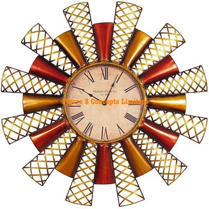 Metal Art Wall Clock
