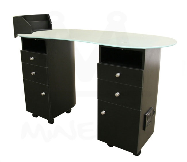 Lanier manicure table future salon pinterest for Black nail desk