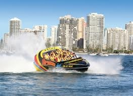 #3 JET BOATING   Included within our Backpacker Adventure Packages jet boating is a must do on the Gold Coast ...Feel the adrenalin pumping action as the turbo-charged boats blast you across the water at up to 80km per hour. With high speed spins, turns, twists and slides!!!