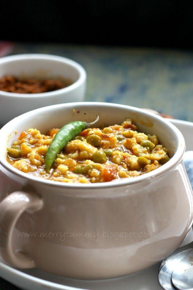 Marwadi Mangodi Mattar, A Classic Rajasthani Dish