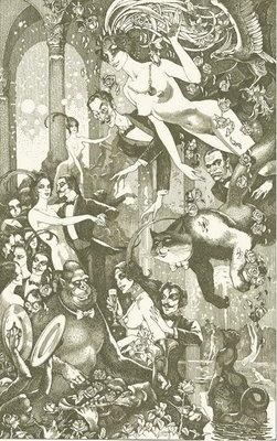 The Master and Margarita, interior illustration, Pavel Orinyanksky