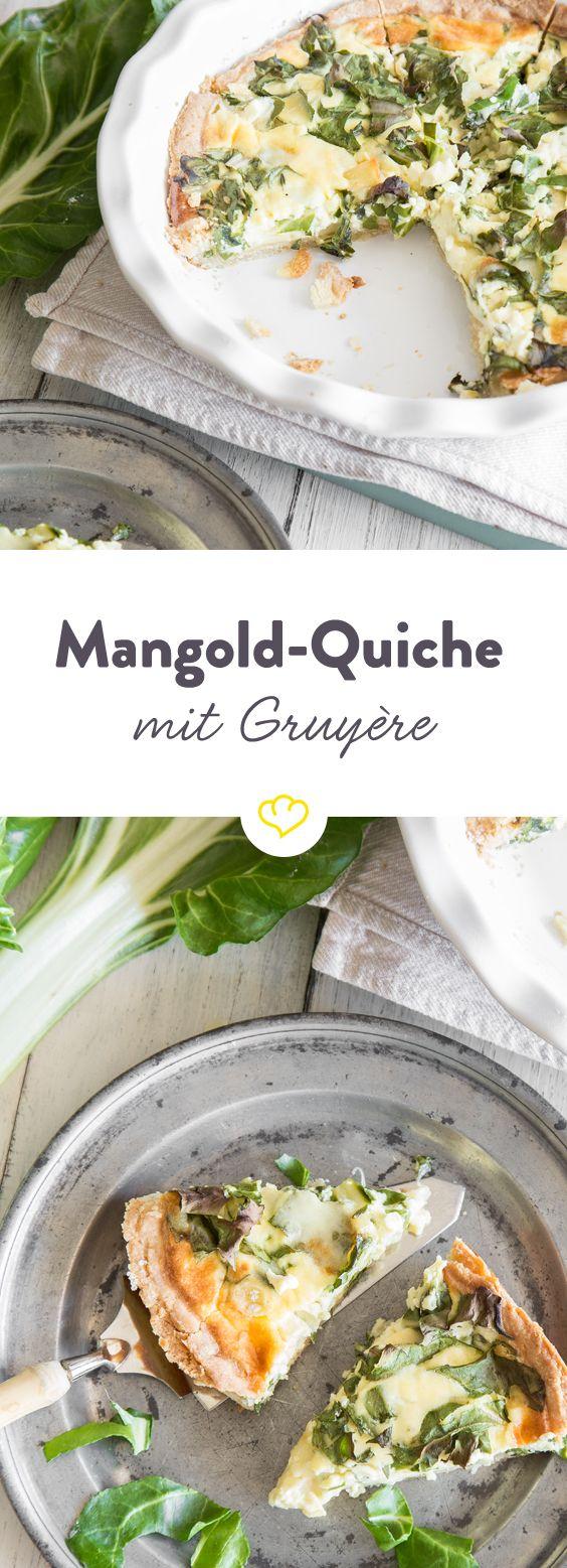 Bei Quiche Lorraine und Lauch-Quiche mit Ziegenkäse greift jeder gerne zu. Bei Spargel-Quiche solltest du schnell sein. Aber bei Quiche mit Mangold und Gruyère in der Füllung musst du rennen, um ein Stück des aromatischen Kuchens zu ergattern.