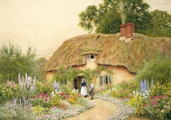 A Devon Cottage Cross Stitch Pattern por AvalonCrossStitch en Etsy