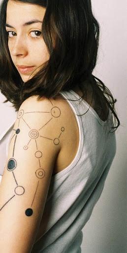 love this tatto by maya nidam best dj ever!! #techno #minimal #tattoos