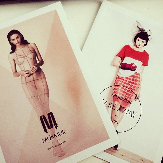 Our Spring Summer 2014 lookbook covers.  #murmurstore  Soon available on> www.murmurstore.com — with Mariana Salaru.