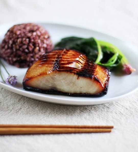 Recipe: Nobu's Miso-Marinated Black Cod — Recipes From The Kitchn  http://www.thekitchn.com/recipe-nobu-miso-marinated-black-cod-117238: Black Cod, Miso Black, Fish, Seafood, Eating, Nobu Miso Marines, Blackcod, Cod Recipes, Miso Marines Black