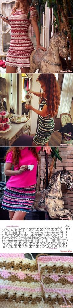 (1) theme - dress from Vanessa Montoro, described knitting mari 1984 | Needlework | Вяжем 2 | Постила