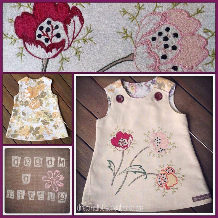 Vintage spring flowers pinny love!!