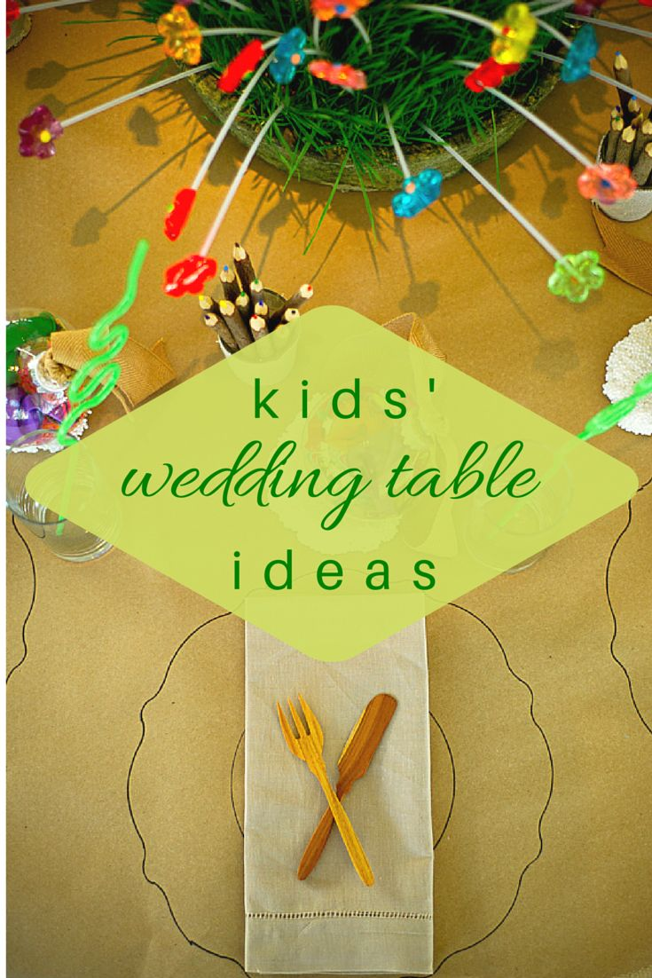 Entertain the wee ones in style with our 8 favorite kids' wedding table ideas. |#kidsweddingtableideas | #kidspartyideas | calderclark.com
