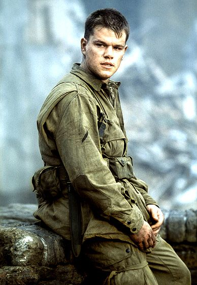 Matt Damon  As Private Ryan in Saving Private Ryan