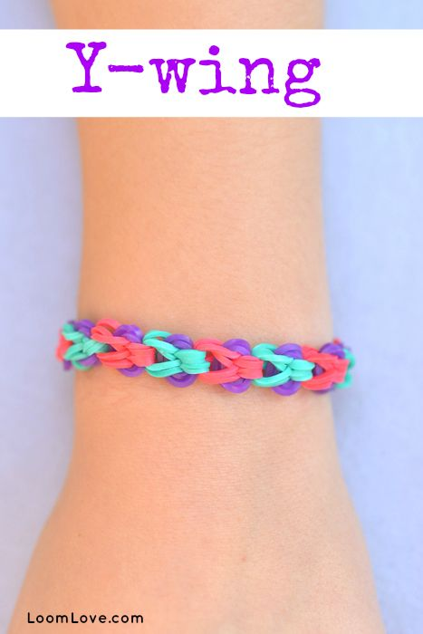 How to Make a Y-Wing Bracelet - Rainbow Loom video tutorial