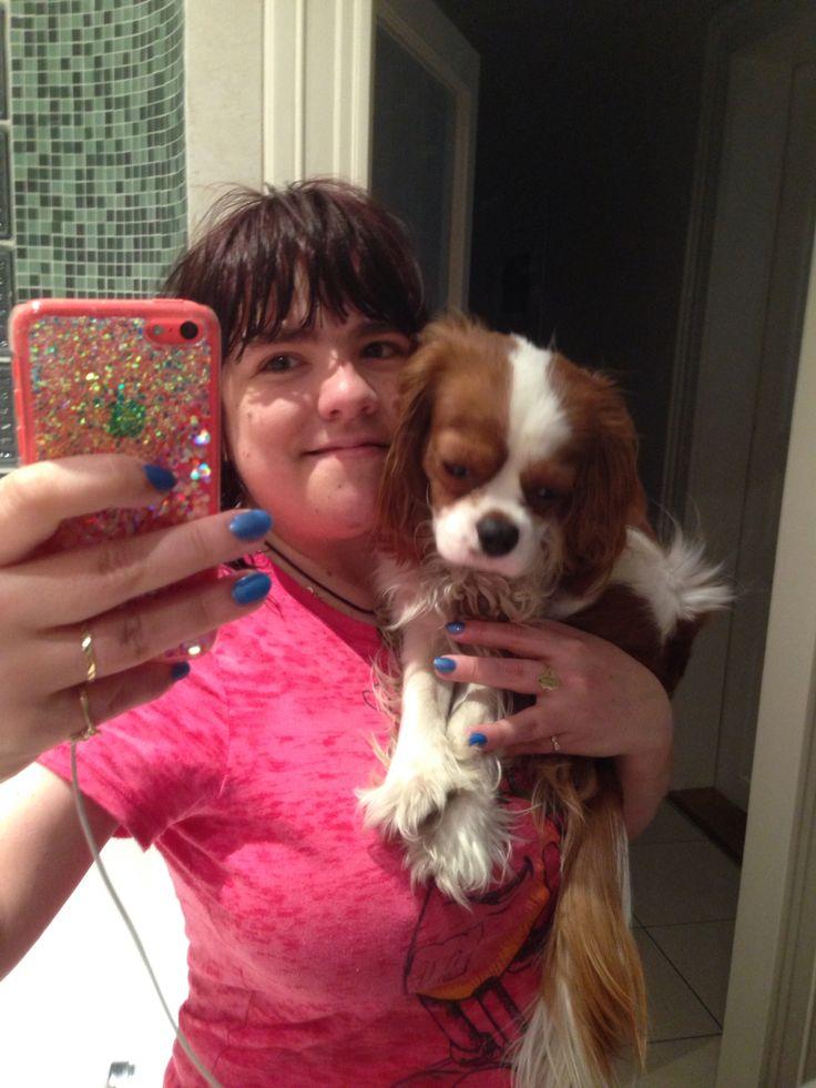 Selfie Z Koupelny Já A Můj Pejsek Charlie/Selfie In A Bathroom Me And My Dog Charlie 15.2.2015